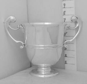 223 Good Sized English Sterling Silver Trophy Cup By Elkington Not Inscribed