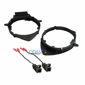 Car Front Or Rear Door Speaker Adapter Bracket Harness For Chevy Buick Cadillac