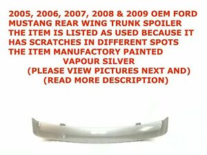 2005 2009 Ford Mustang Rear Wing Trunk Spoiler Gray 6r336341602aaw 1