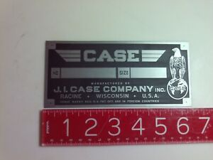 J i Case D Aluminium Tractor Engine Name Plate Tag Nameplate Ji