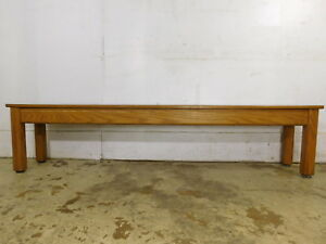69 X16 T Vintage Solid Oak Mission Style Amish Made Mud Room Hallway Kids Bench