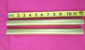 2 Pieces 1 Dia C360 Brass Solid Round Rod 12 Long New Lathe Bar Stock H02