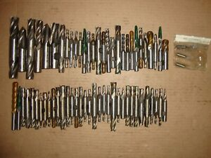 Large 66pc Lot Of Machinist End Mills Union Cleveland Brubaker Morse Etc