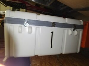 Rugged Lockable Shipping Case White With Foam And Handles