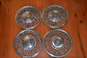 1986 1988 Oldsmobile Calais Firenza 13 Locking Wire Hubcap Wheel Cover
