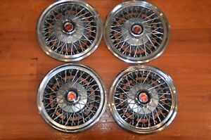 1977 1982 Ford Ltd Mustang Granada 14 Wire Spoke Hubcaps Mercury Monarch Set 4
