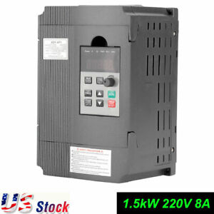 1 5kw 3hp Vfd 8a 220v Three Phase Speed Variable Frequency Drive Inverter