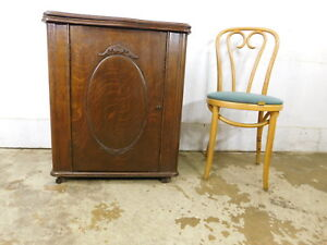 1890 Antique National Treadle Sewing Machine Improved Belvidere Enclosed Cabinet