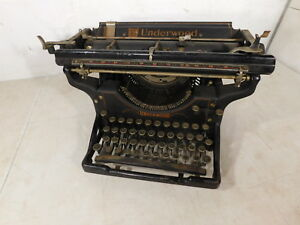 Antique 1927 Underwood 11 Industrial Office Table Typewriter 662279 14