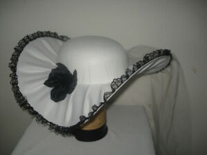 Womens Southern Belle Hat Veil Flower Kentucky Derby Hat White Costume Accessory