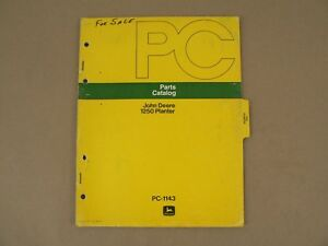 John Deere 1250 Planter Service Repair Parts Catalog 1975 Vintage Pc 1143