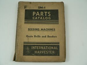 Parts Catalog International Harvester Sm 1 Seeding Machines Grain Drills 1948