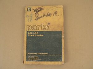 Caterpillar Cat Tractor 963 Lgp Track Loader Parts Catalog Service Repair 1981