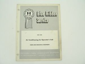 Air Conditioning Operators Cab Farm Equip Service Manual Int l Harvester 1968