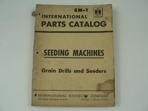 Parts Catalog International Harvester Sm 1 Seeding Machines Grain Drills 1958