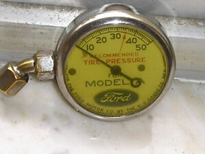 Vintage Us Model A Ford Tire Gauge Nice Antique Car Show Accessory Tool Kit Part