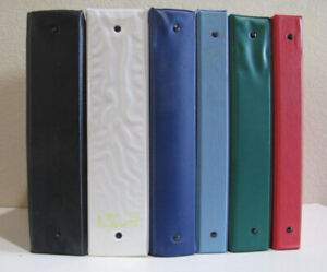 Vinyl Three ring Binders Approx 70 Various Sizes And Colors