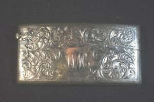 Antique Smith Bartlam English Sterling Silver Match Case
