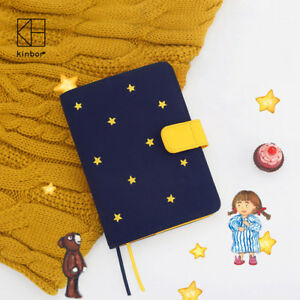 A5 A6 Stars Hobonichi Style Cloth And Embroidery Traveler s Notebook Planner