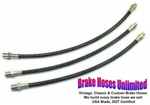 Brake Hose Set Ford Truck F250 3 4 Ton 1953 1954 1955 1956 1957 1958 1959 1960
