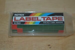 New Lot Of 10 Rotex Embossing Tape Green 1 2 X 12 Ft Label Labeling