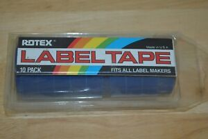 New Lot Of 10 Rotex Embossing Tape Blue 1 2 X 12 Ft Label Labeling