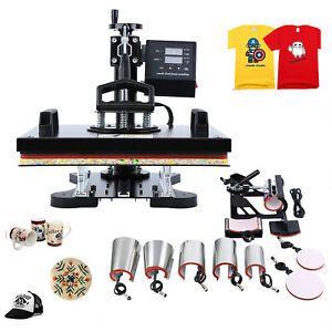 10in1 Heat Press Machine For T shirts 12 x15 Combo Kit Sublimation Swing away