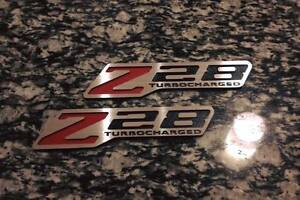 Z28 Turbocharged Fender Badge Emblems Ls1 Ls2 Ls3 Ls6 Camaro Musclecar Tpi