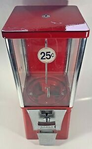 Eagle Vending Machine 25 Cent Quarter No Key Red 17 Candy Gumball Working Vtg