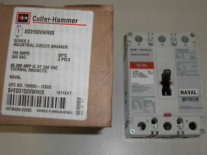 Cutler Hammer Ed3150vwh09 3 Pole 150amp 600 Vac Circuit Breaker new In Box