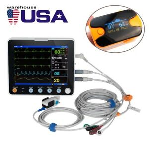 6 parameters Medical Dental Patient Monitor Icu Vital Signs Ecg Nibp Resp Spo2 A