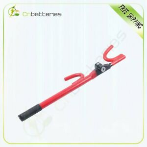 The Club Anti Slip Lock Steering Wheel Lock Red 1000 Superior Quality