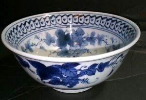 Chinese Kangxi Blue And White Porcelain Bowl 17th Century Mint