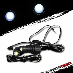 Auto Motor Headlights Led Flash Lights White Bulbs Decoration Strobe Light Pair