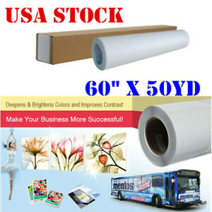 Us 60 X 50yd Roll Glossy Cold Laminating Film Monomeric 3 15 Mil paper Adhesive