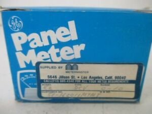 General Electric 50 162011mtmt Panel Meter 0 10 D c Volts New In Box