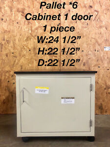 Hamilton Single Door Lab Cabinet Casework With Attached Epoxy Chem Top