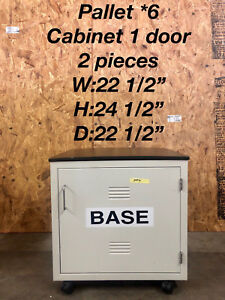 Hamilton Single Door base Lab Cabinet Casework With Attached Epoxy Chem Top