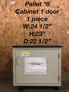 Single Door Rolling Lab Cabinet With Epoxy Chem Resistant Top