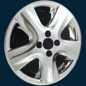 07 08 Toyota Yaris 5005p C 15 5 Spoke Chrome Wheel Skins Hubcaps New Set 4