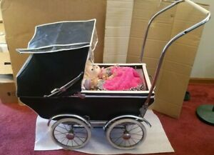 Vintage Antique Baby Or Doll Carriage Stroller Buggy Old 1950 1970 S