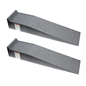 Bisupply Vehicle Service Ramp Set 6 6 Inch Lift 5 Ton Truck Ramps 2 Pack