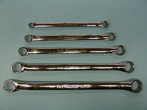 Snap on Xb605a 12 point Sae Flank Drive Std 10 Degree Offset Box Wrench Set