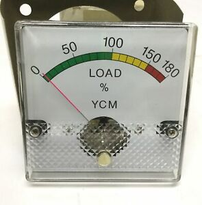 Ycm Doall Supermax Cnc Machining Center Spindle Load Panel Meter Gauge 3 3 16