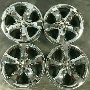 Dodge Challenger Charger Chrome Clad Alloy Wheels 20x8 Rim 2411 2424 20 Rims