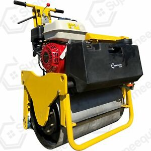 Single Drum Vibratory Roller 550 Lbs With Honda Gx160 For Road And Asphalt