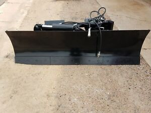 New Heavy 7 5 Foot Six Way Dozer Blade For Skidsteer Also Snow Plow Fits Bobcat