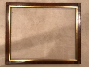 19th Century Antique Large Wood Block Corner American 38x30 Picture Frame