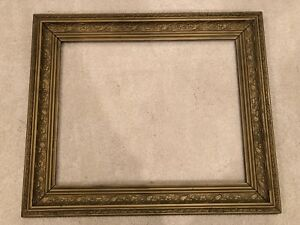 Antique 26x21 Large Late 19th Century Gold Victorian Picture Frame C
