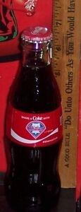 2018 COCA - COLA SHARE A COKE WITH PHILADELPHIA PHILLIES  8OZ COCA - COLA BOTTLE
